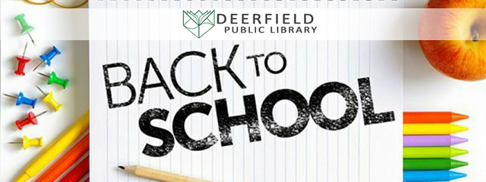 Make the Library Part of Your Back to School Plan!